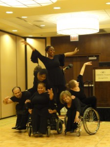 Inclusive Dance troupe performing for conference goers.